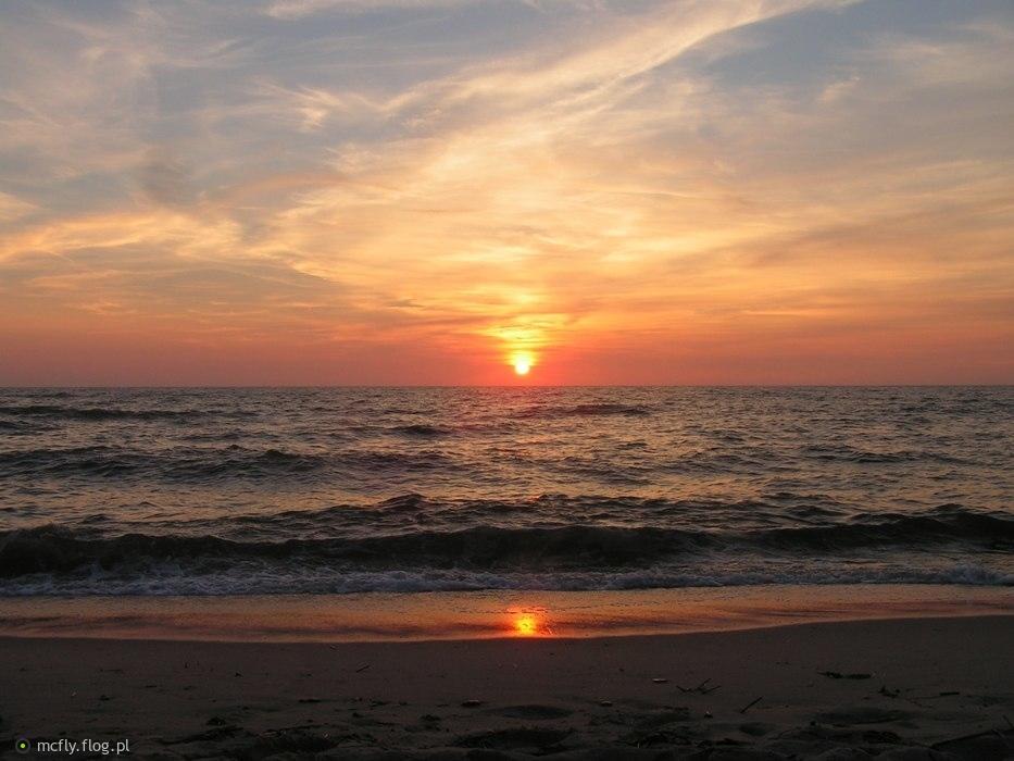 Lipcowy zachód słońca