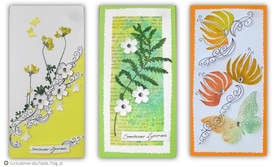 Kartki z Suszonych Kwiatów