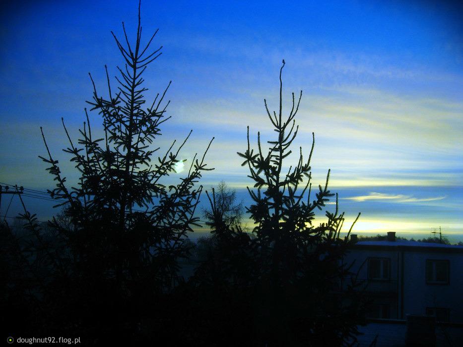 Wschód słońca...